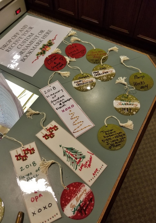 Mementoes made by attendees