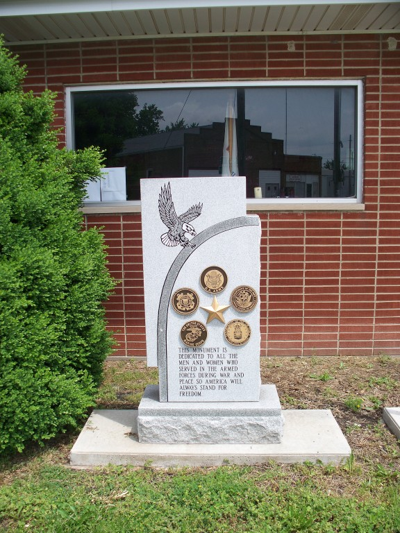 Village of Harvel Veterans Memorial located at the Village Hall