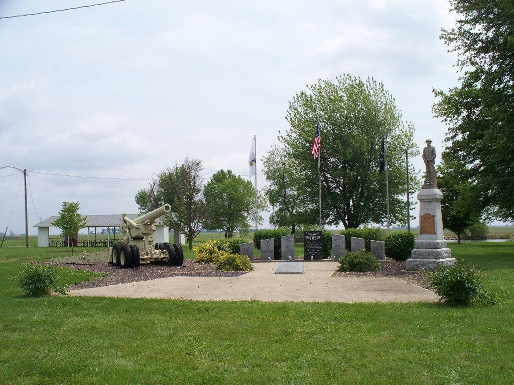 Veterans Memorial at Veterans Memorial Park Gun Club in Raymond, IL