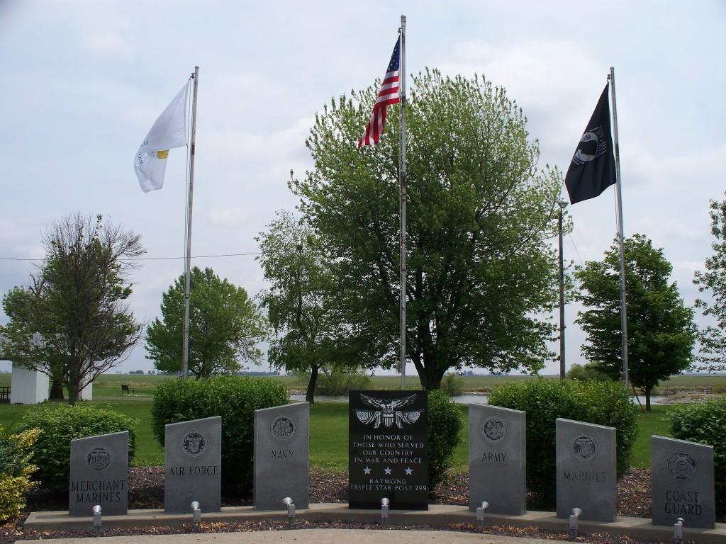 Veterans Memorial at Veterans Memorial Park (Gun Club) in Raymond, IL