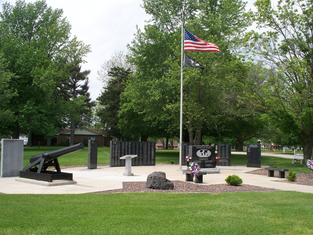 Veterans Memorial in Nokomis, IL