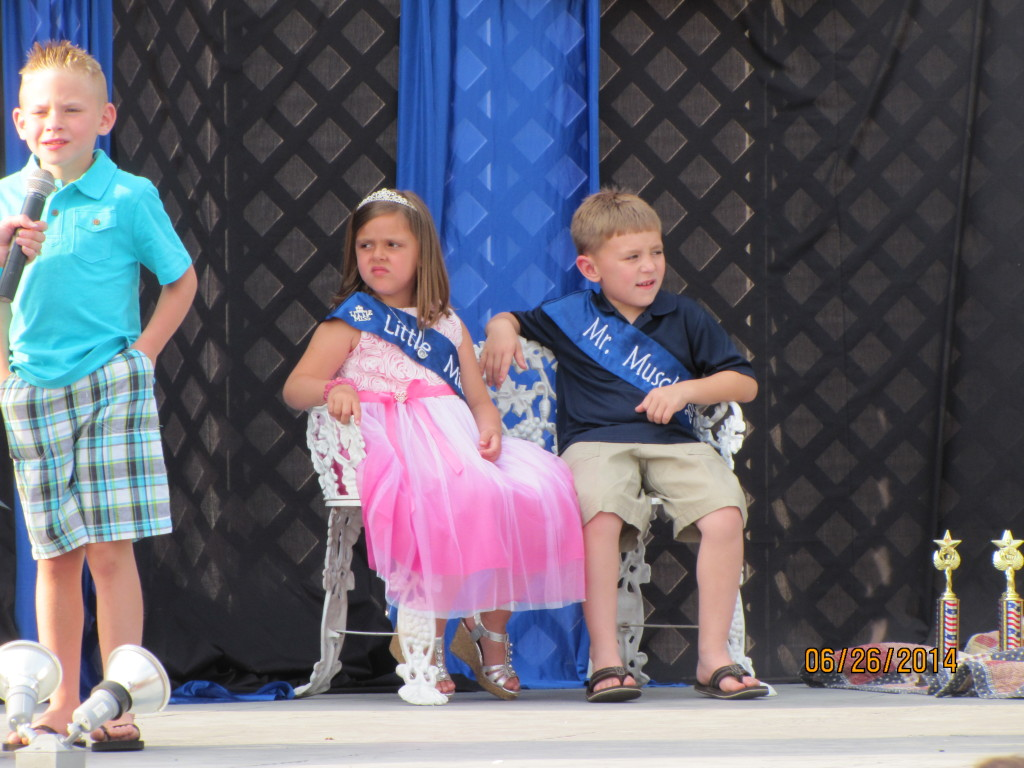 Raymond, IL Little Miss and Mr Muscle during Raymond's Celebration