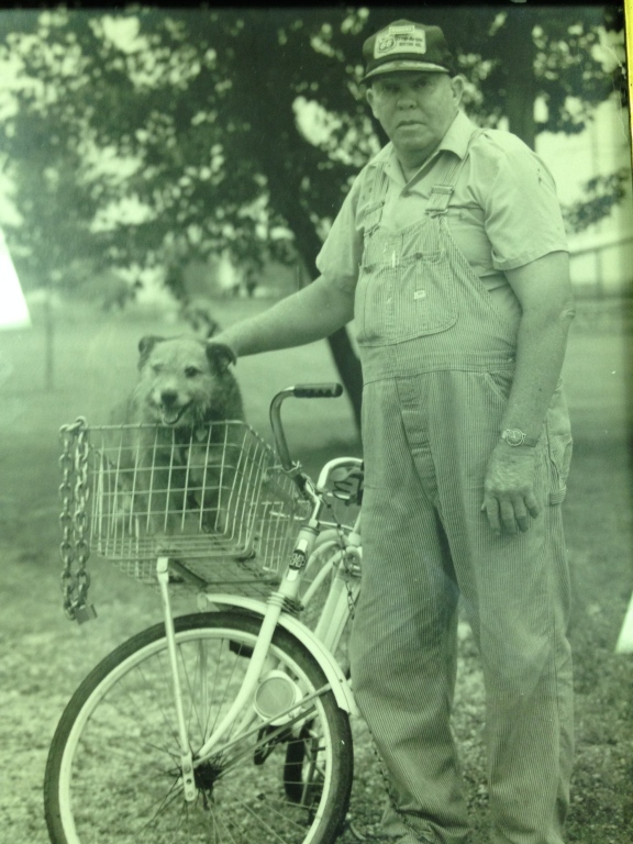 Raymond, IL Crossing Guard Merle Burley and his dog Wayne