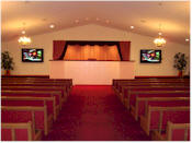 Main Chapel holds approximately 375 people