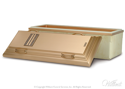 The Wilbert Bronze  Ultimate triple-reinforced protection. Cover and base reinforced with durable bronze alloy. Interior reinforced with high-impact ABS plastic. Exterior base completely encased in high-impact ABS Marbelon. Includes Memorialization Plus brass capsule and customized nameplate.