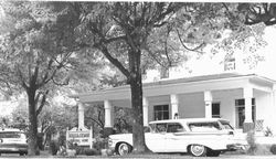 Photo of Funeral Home and Ambulance and Hearse in 1961.