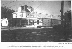In 1995, Herald & Stewart & Halsey Funeral Home add a new Church-like Chapel.