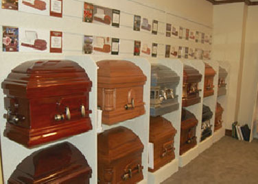 Casket Selection Wall