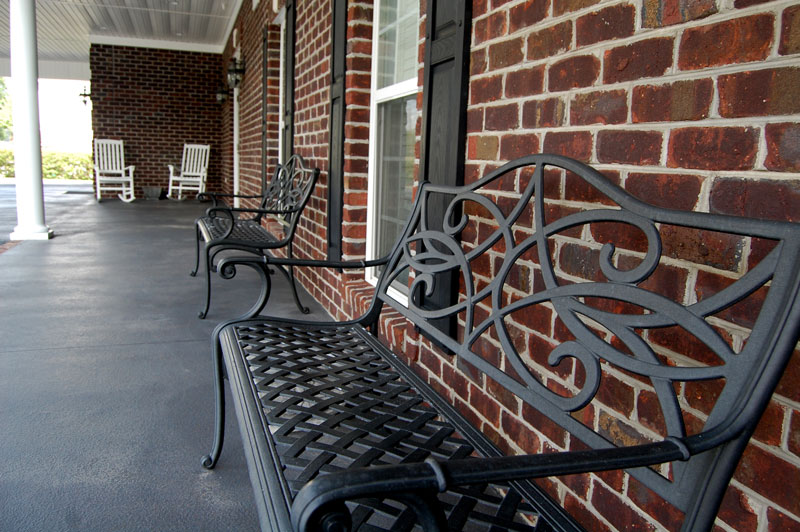 Johnson Funeral Home Porch