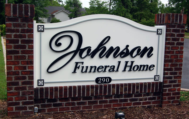 Johnson Funeral Home Exterior Sign