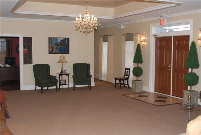 Spacious foyer to greet family and friends, that leads directly into our visitation rooms