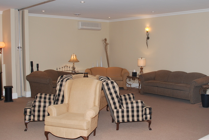 Two spacious visitation rooms that provide a comforting environment