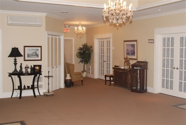 Spacious foyer to greet family and friends that leads directly into our visitation rooms