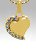 Jeweled Gold Heart - CS503 / $75.00 + Tax - Includes Chain