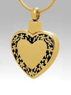 Gold Filigree Heart - CS505 / $75.00 + Tax - Includes Chain