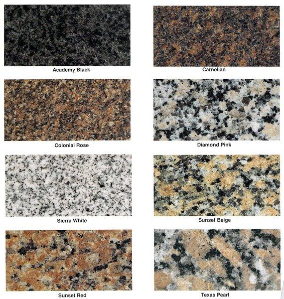 Colors of Granite for Bronze