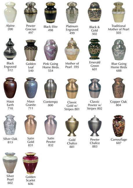 Keepsake Urns - 35 Each
