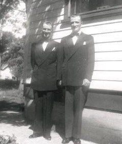 Bill & his brother Jack Jamieson, who also assisted when called upon. circa 1947