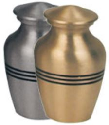 Classic Pewter  Gold with Stripes Keepsake