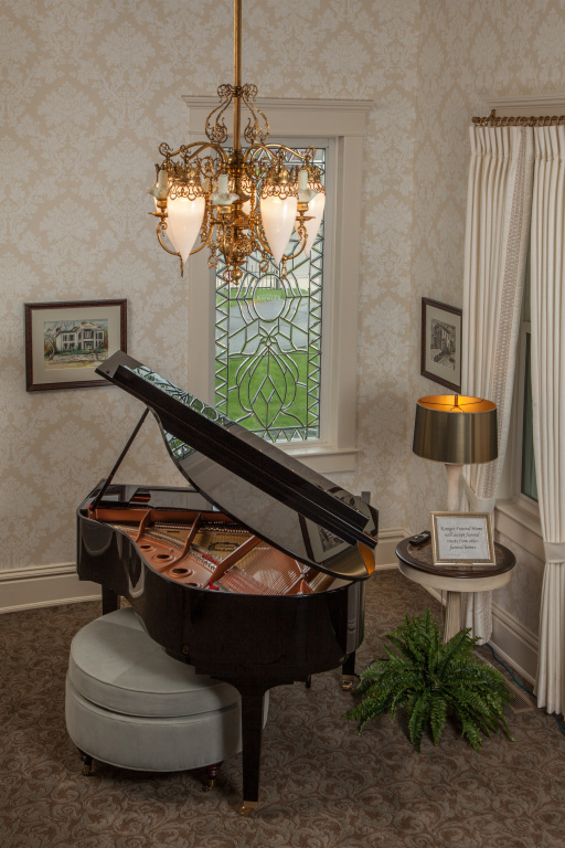 Player piano entryway.