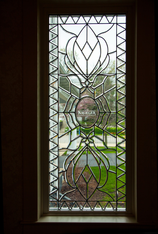 Entryway leaded glass.