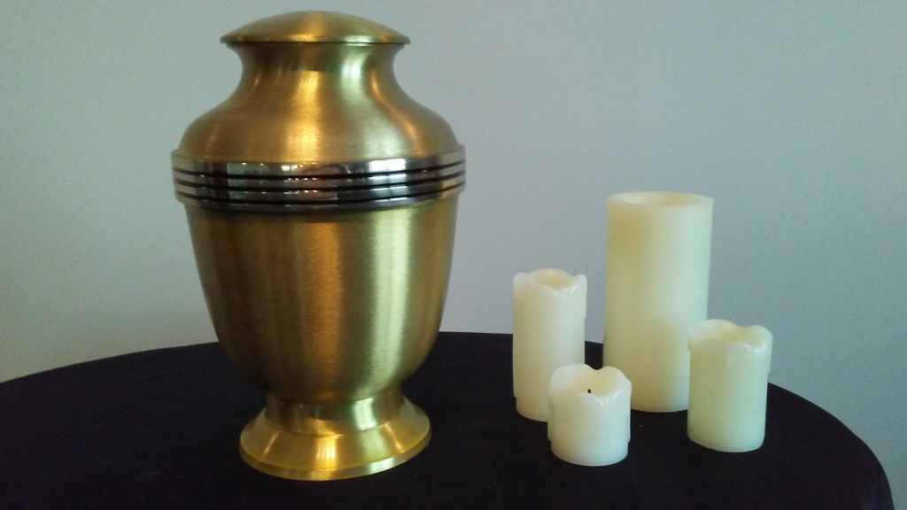 Elegant Gold Urn, Keepsake