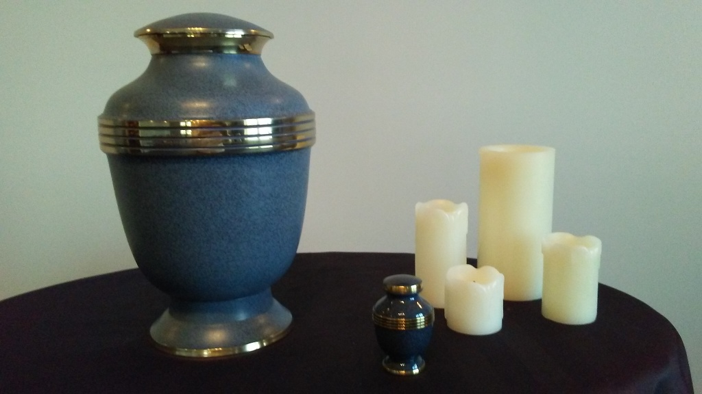 Elegant Sapphire Urn, Keepsake