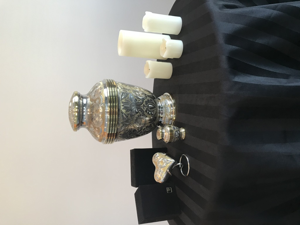 Silver & Gold Urn & Keepsakes