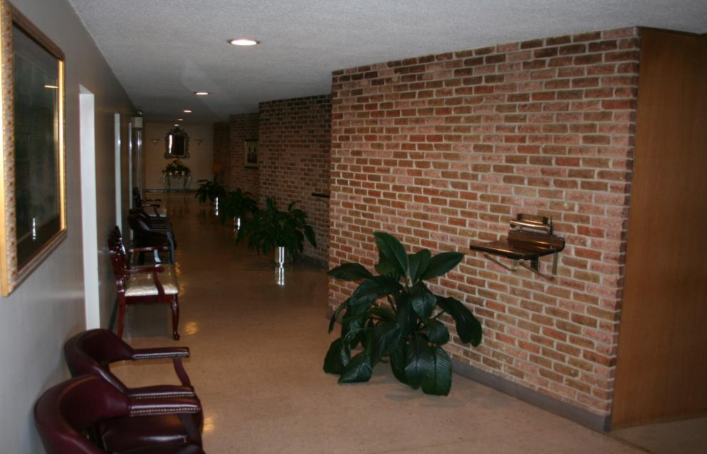 The main hallway leading to our 5 repose rooms.