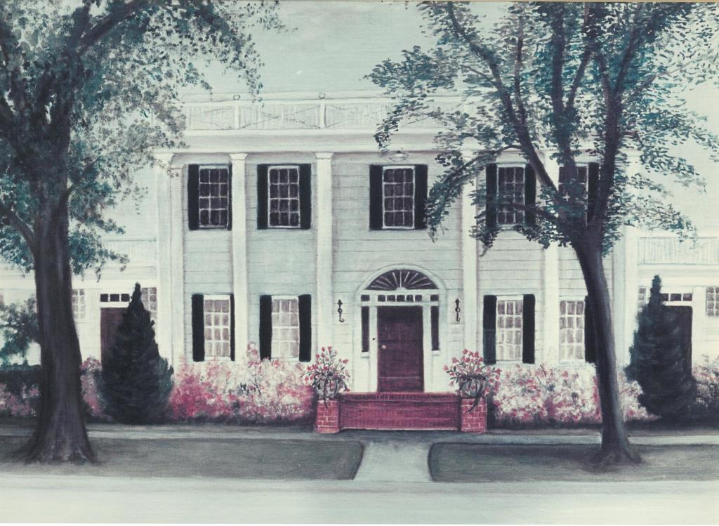 Painting of the Old Funeral Home on Church Street