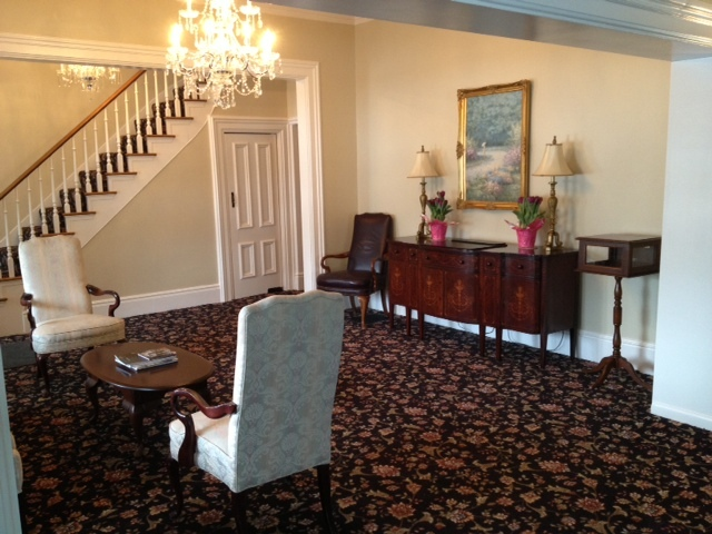 Recently remodeled front sitting room in March of 2013