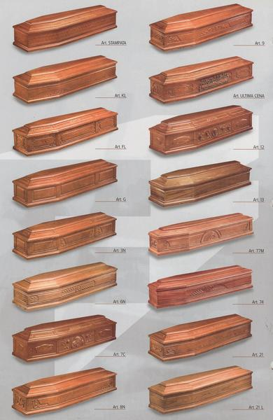 Traditional coffin selections