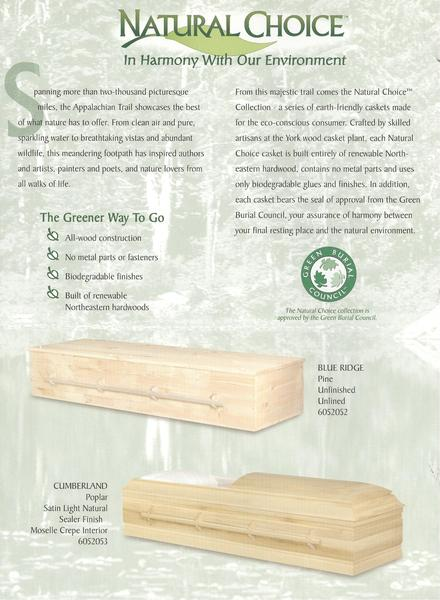 Natural Eco-friendly caskets
