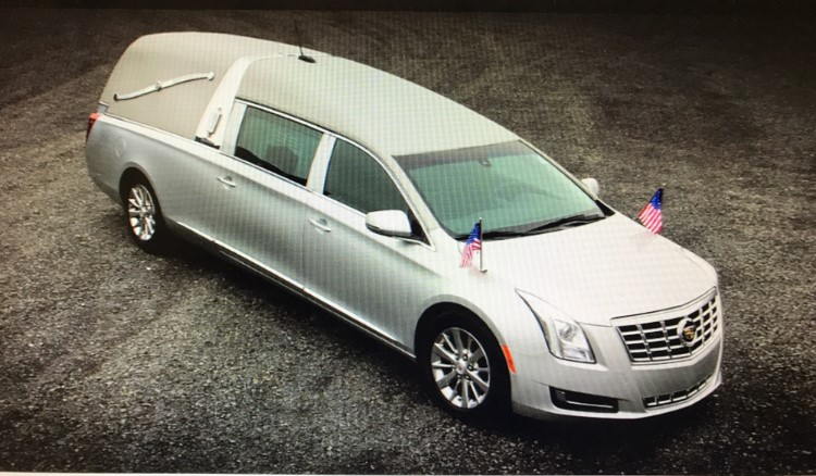 Longwood Funeral Home  Cremation of Matthew Genereux hearse