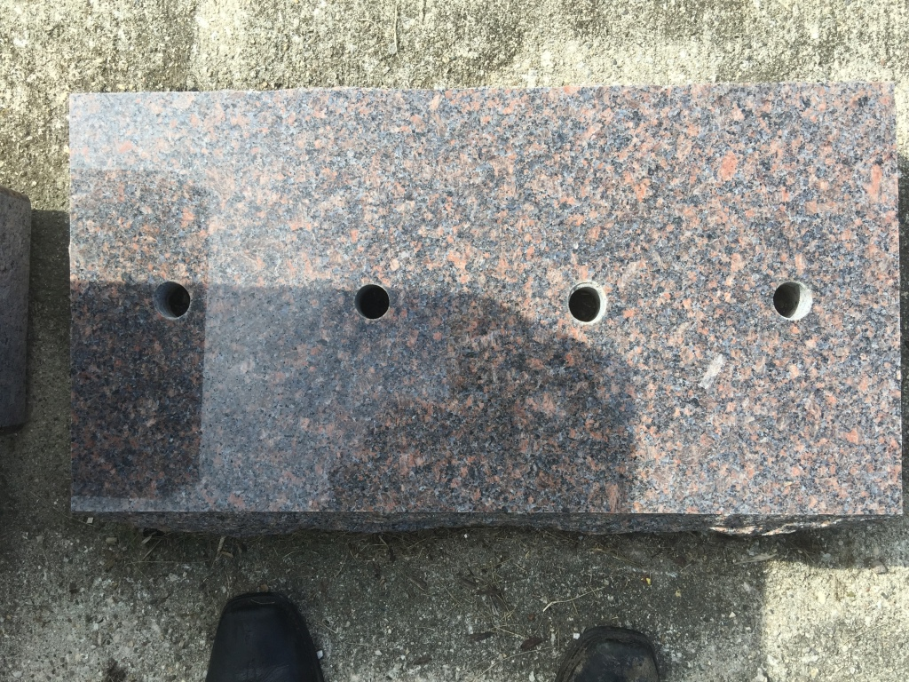 FLAT MARKER WITH HOLES FOR BRONZE MAHOGANY IN COLOR