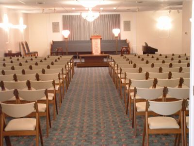 Our spacious chapel