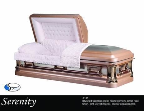 Serenity - Solid Stainless Steel - Standard Casket Large Shell