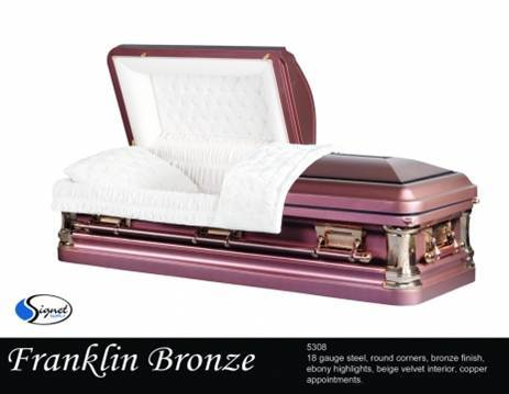 Franklin Bronze 18 Ga. Carbon Steel - Large Shell - Velvet