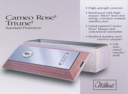 Cameo Rose SST - Stainless Steel - Standard Vault - for those who want something special for their special lady.