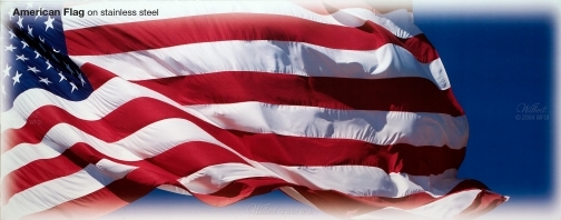 American Flag - Poplar Personalized Litho available on all Basic Plus and above Burial Vaults