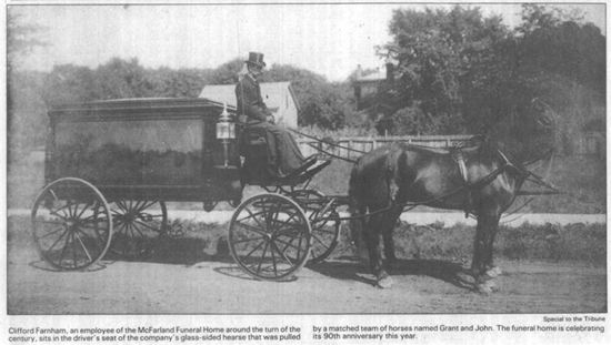 McFarland's Horse Drawn Hearse at Turn of Century