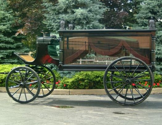 Horse Drawn Hearse present