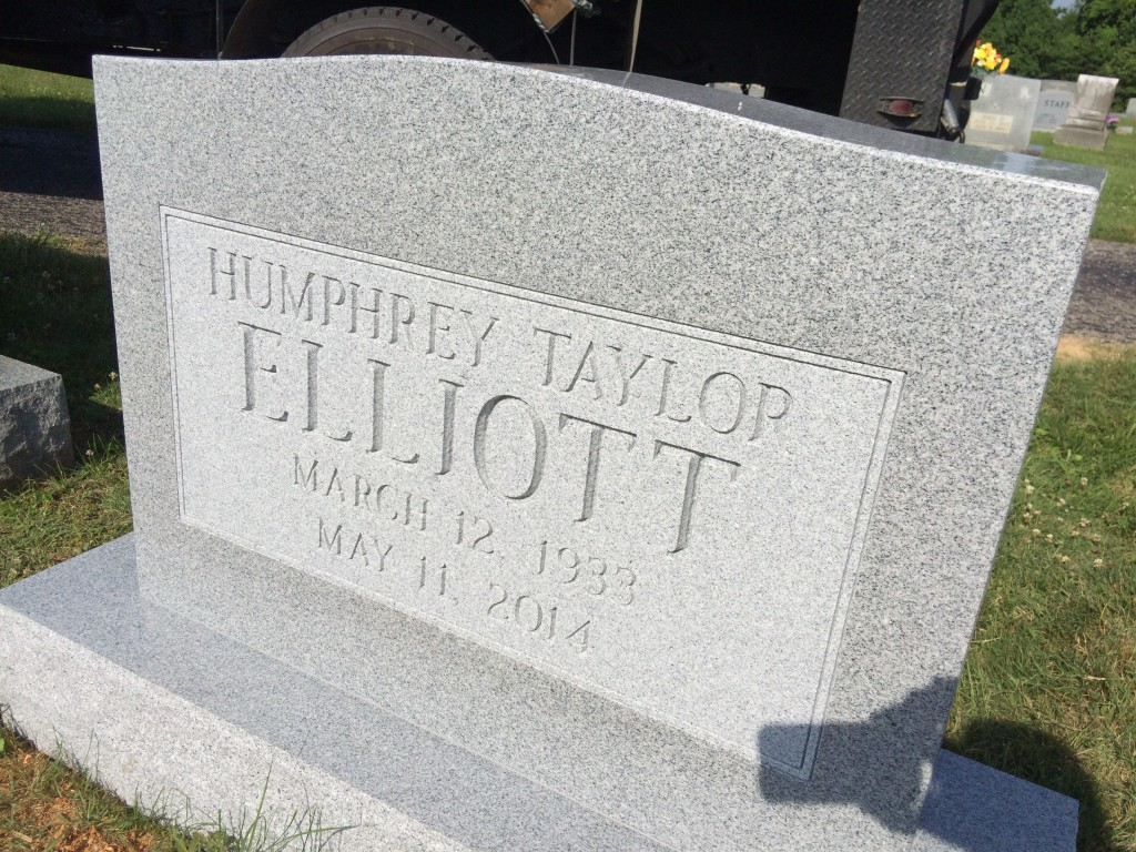 Headstone for Humphrey Elliott