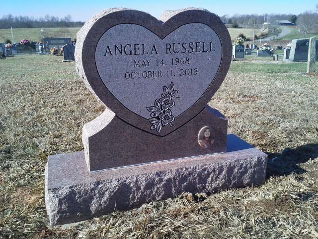 Headstone for Angela Russell