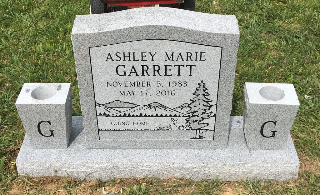 Headstone for Ashley Garrett