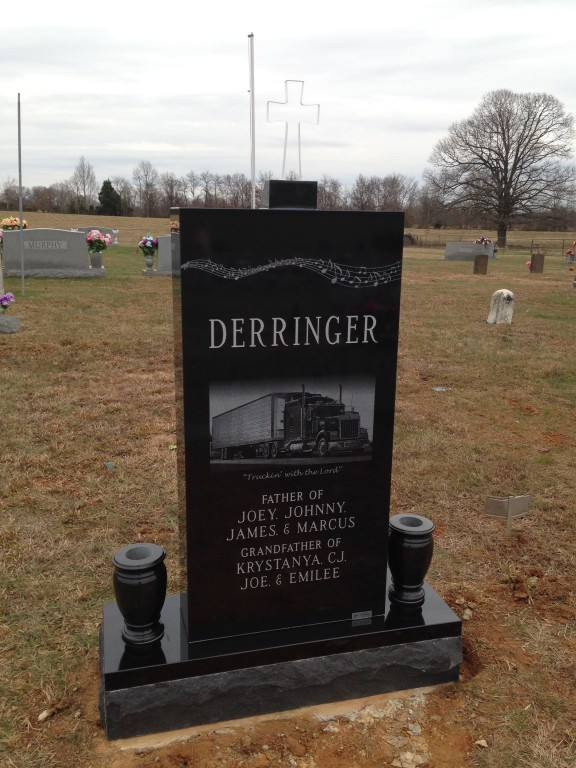 Back of Joseph Wayne Birdlegs Derringer headstone