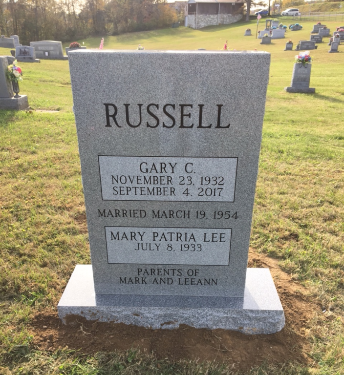 Headstone for Gary and Patria Russell