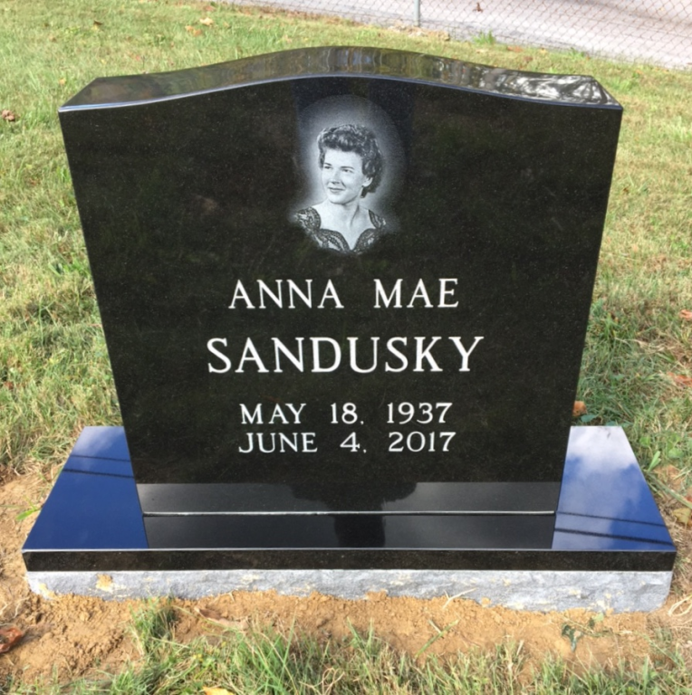 Headstone for Anna Sandusky