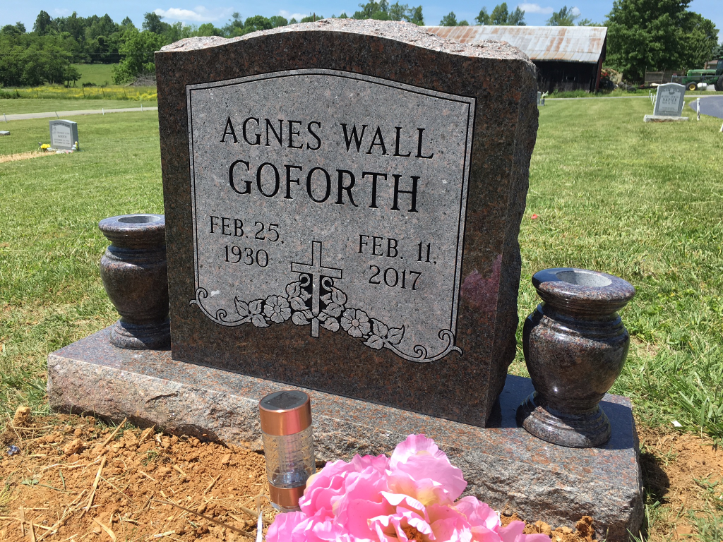 Headstone for Agnes GoForth