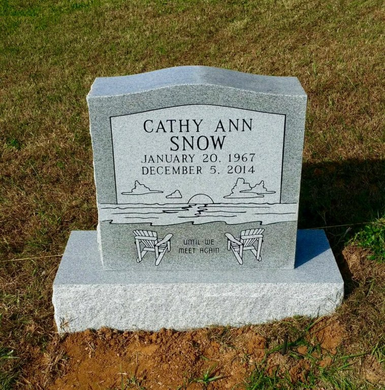 Headstone for Cathy Ann Snow